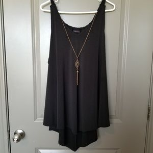 Blank Tank with Gold Accent